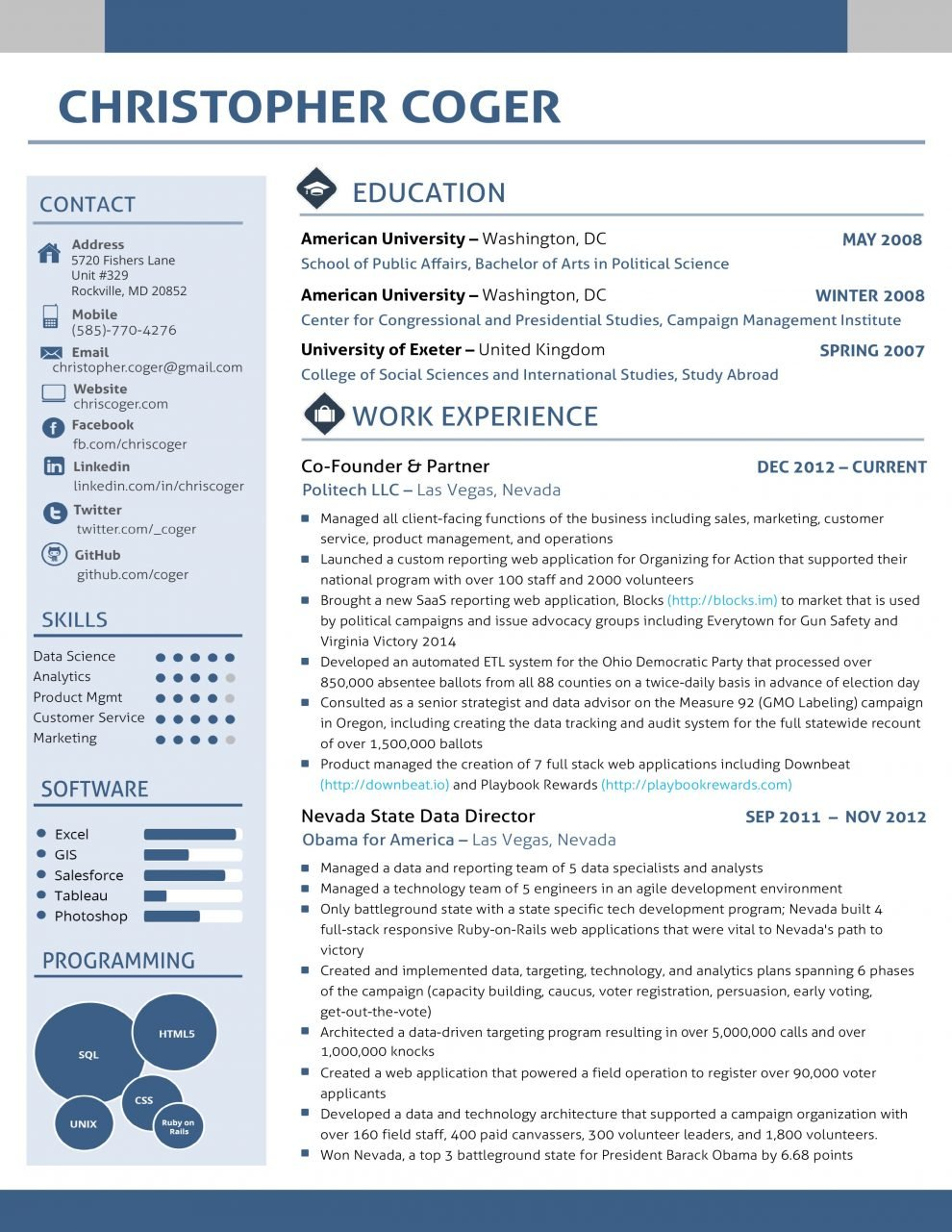 cv layout - Uk Cv Examples